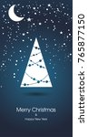 merry christmas and happy new... | Shutterstock .eps vector #765877150