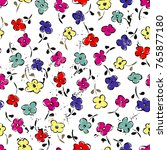 abstract floral pattern... | Shutterstock .eps vector #765877180