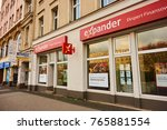 Small photo of POZNAN, POLAND - NOVEMBER 26, 2017: Expander financial advise office front with entrance in the city center