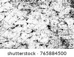grunge black and white pattern. ... | Shutterstock . vector #765884500