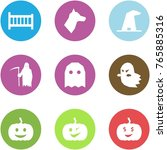 origami corner style icon set   ... | Shutterstock .eps vector #765885316