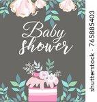 baby shower invitation card | Shutterstock .eps vector #765885403