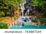 Waterfall In Deep Forest...