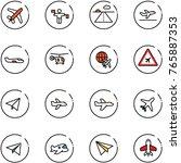 line vector icon set   plane...   Shutterstock .eps vector #765887353