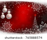 christmas red design with... | Shutterstock .eps vector #765888574