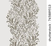 floral vector border decor on... | Shutterstock .eps vector #765889513