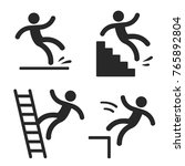 caution symbols with stick... | Shutterstock .eps vector #765892804