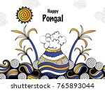 pongal  thai pongal is a tamil... | Shutterstock .eps vector #765893044