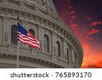 washington dc capitol dome... | Shutterstock . vector #765893170