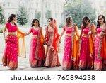 beautiful indian bride in red... | Shutterstock . vector #765894238