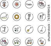 line vector icon set   plane... | Shutterstock .eps vector #765898414