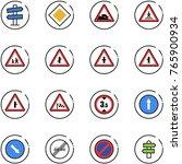 line vector icon set   road... | Shutterstock .eps vector #765900934