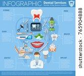 dental services infographics... | Shutterstock .eps vector #765904888