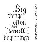 big things often have small... | Shutterstock .eps vector #765906520
