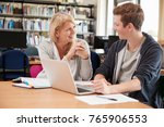 college student has individual... | Shutterstock . vector #765906553