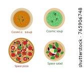 vector image of food. soup ...   Shutterstock .eps vector #765906748