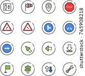 line vector icon set   elevator ... | Shutterstock .eps vector #765908218