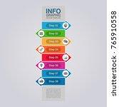 vector infographic template for ... | Shutterstock .eps vector #765910558