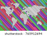 news background for global news.... | Shutterstock . vector #765912694