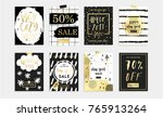 holidays cards and posters... | Shutterstock .eps vector #765913264