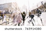 crowd of anonymous people... | Shutterstock . vector #765914380