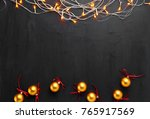 christmas background decoration ... | Shutterstock . vector #765917569