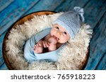 Little Baby Boy With Knitted...