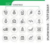 christmas. set of vector flat... | Shutterstock .eps vector #765918664