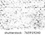 grunge black and white pattern. ... | Shutterstock . vector #765919240