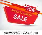 trapeze sale shopping poster... | Shutterstock .eps vector #765921043