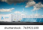 power to gas concept with fresh ... | Shutterstock . vector #765921100