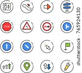 line vector icon set   elevator ... | Shutterstock .eps vector #765924130