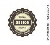 vintage hipster logo design... | Shutterstock .eps vector #765926146