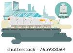 magnetic levitation  maglev  or ... | Shutterstock .eps vector #765933064