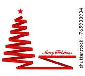 merry christmas in red color on ... | Shutterstock . vector #765933934