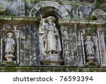 Detail of the Cathedral of Santiago de Compostela.Galicia.Spain