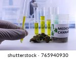 testing marijuana buds for the... | Shutterstock . vector #765940930