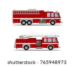 picture of two fire trucks... | Shutterstock .eps vector #765948973