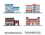set of city building icons ... | Shutterstock .eps vector #765949153