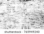 grunge black and white pattern. ... | Shutterstock . vector #765949240