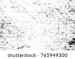 grunge black and white pattern. ... | Shutterstock . vector #765949300
