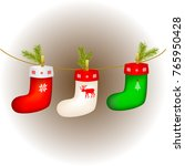 set of multi colored christmas... | Shutterstock .eps vector #765950428