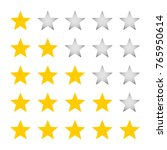 a five star rating for grading. ... | Shutterstock .eps vector #765950614