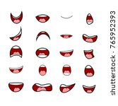 cartoon mouth set vector symbol ... | Shutterstock .eps vector #765952393