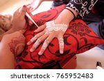 malay wedding drawing white... | Shutterstock . vector #765952483