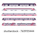 set of passenger train. subway... | Shutterstock .eps vector #765955444