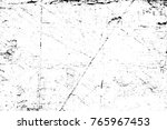 grunge black and white pattern. ... | Shutterstock . vector #765967453