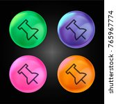 tack save button crystal ball... | Shutterstock .eps vector #765967774