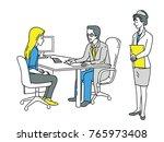 doctor giving health care... | Shutterstock .eps vector #765973408