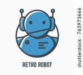 Retro Robot Line Illustration....